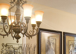 Designer interiors at Portofino Vista include lighting, railings, cabinetry, flooring, colors and carpets